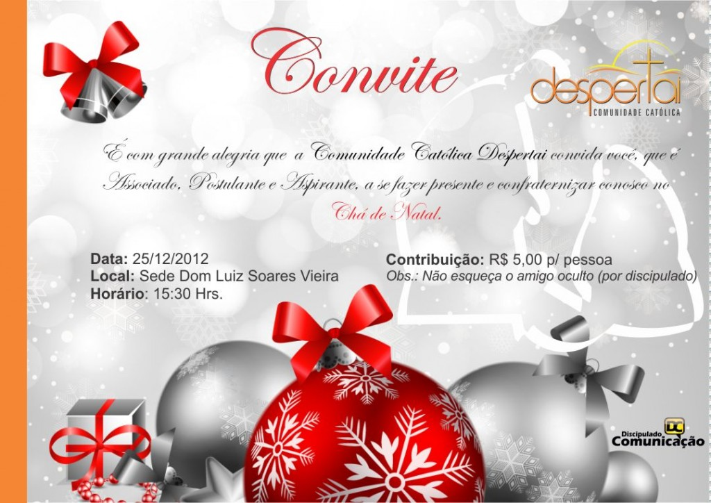 Convite Chá de Natal